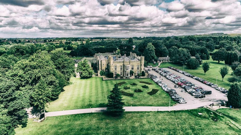 Aerial wedding photography east Yorkshire hull