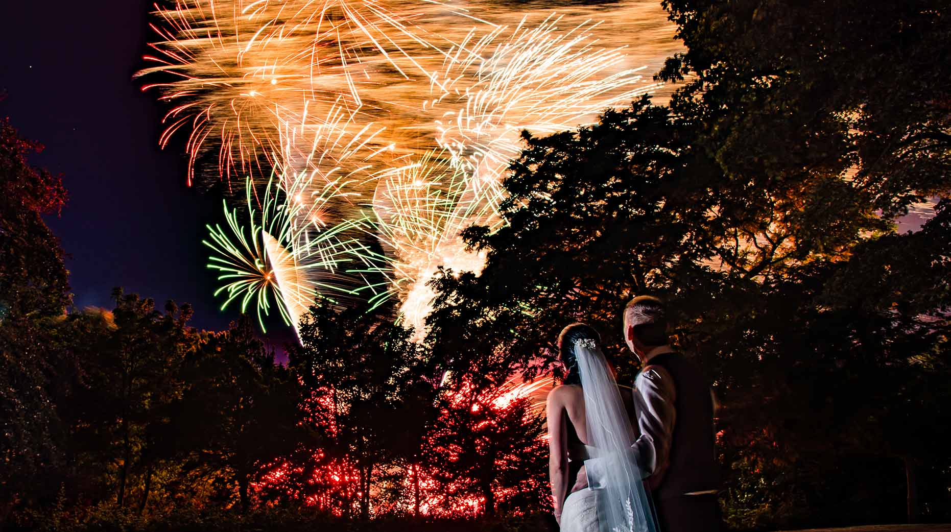 Hull fireworks wedding photographer